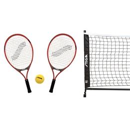 STIGA, Mini Tennisset med 2 racket, nät, stolpar och boll