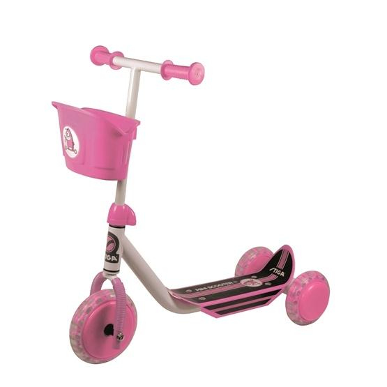 STIGA, Sparkcykel med tre hjul, rosa
