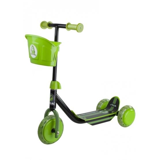 STIGA, Sparkcykel med tre hjul, svart/grön