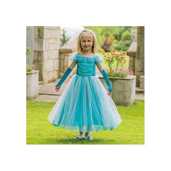 Travis Designs, Turquoise Sparkle Princess & gloves 6-8 år