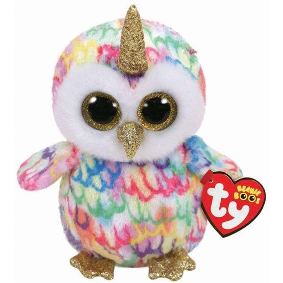 TY - Beanie Boos - Enchanted Uggla med horn 15 cm