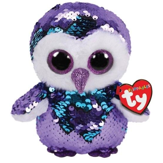 TY, Flippables - Moonlight Owl 15 cm