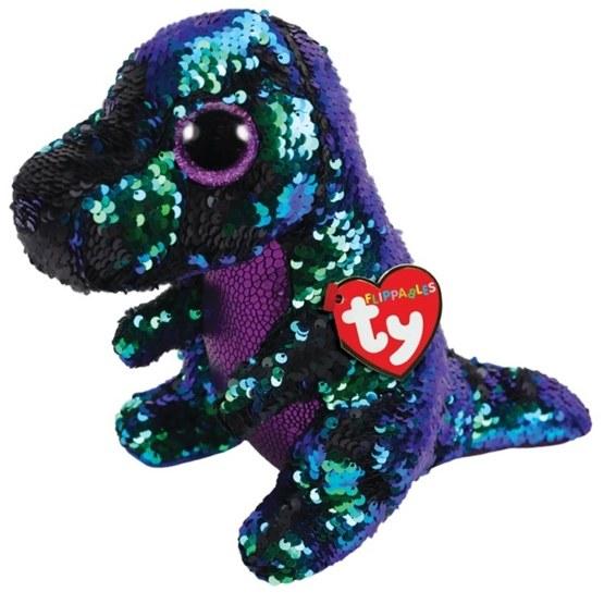 TY, Flippables - Crunch Dinosaur 23 cm