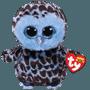 TY, Beanie Boos - Yago Blå Uggla 15 cm