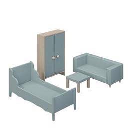 VaniMeli, Möbelset - Sov & vardagsrum mint