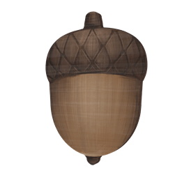 VaniMeli, Woods Collection Väggkrok Tryck - Ekollon