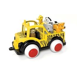 Safari Jeep med 1 figur och 4 djur