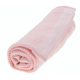 Vinter & Bloom, Filt Soft Grid Eko Gallerfilt Rosa