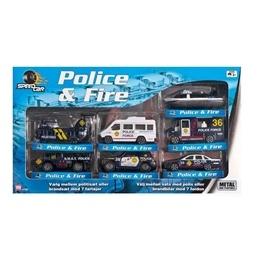 Speed Car, Police & Fire 7 st Polisfordon