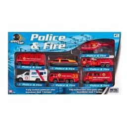 Speed Car, Police & Fire 7 st Brandfordon