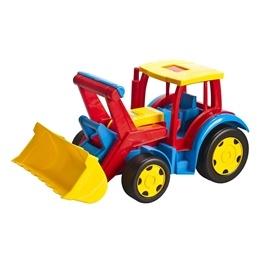 Wader, Stor Traktor med Grävskopa 60 cm max 100 kg