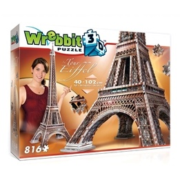 Eiffeltornet, 3D-pussel,816 bitar