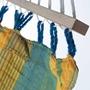 Hamaca - Väderbeständig singel-hängmatta med träkarmar - Grenada Lemon