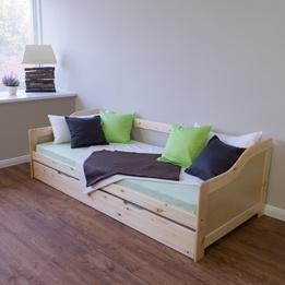 Enkelsäng - Soffa Med Extrasäng - Naturell