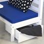 Loftsäng Med Skrivbord Och Förvaring - Blå