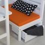 Loftsäng Med Skrivbord Och Förvaring - Orange