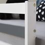 Loftsäng - Vit - Inklusive hylla och skrivbord