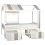 Enkelsäng - Hussäng - Inklusive lådor - Shabby Chic