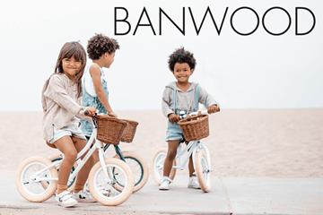 Banwood - Springcykel och cykelhjälm i tidlös design