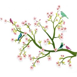 Djeco - Cherry tree in bloom - 3D wallsticker