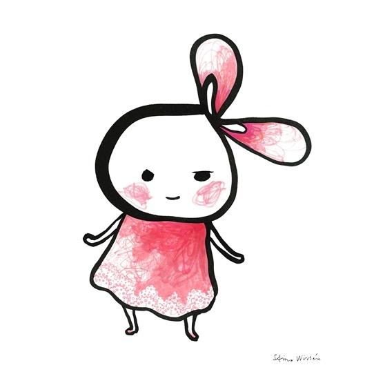 Brokiga - Poster Little Pink 40x50 Cm.