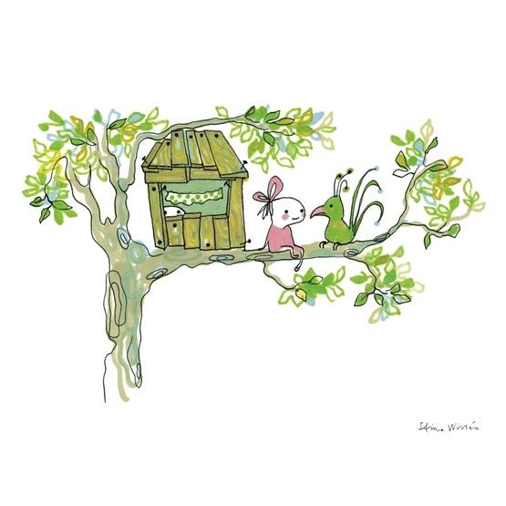Brokiga - Poster Tree House 24x30 Cm.