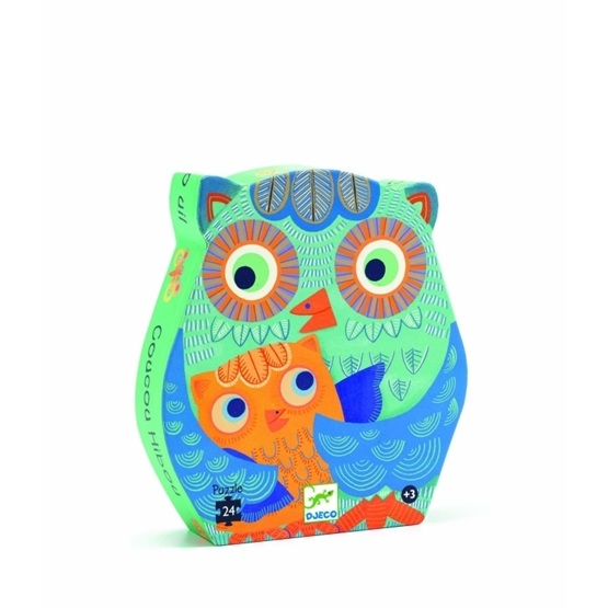 Djeco - Hello Owl - 24 Pcs