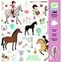 Djeco - Stickers - Horses