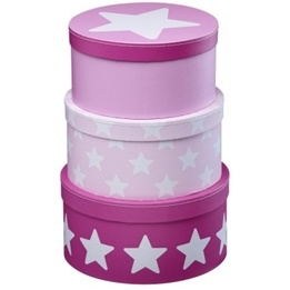 Kids Concept - Pappbox Rund Star Rosa
