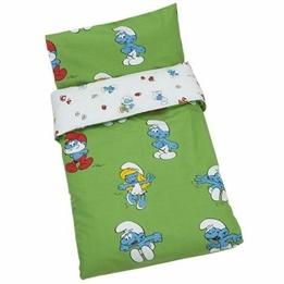 Rätt Start - Påslakanset Säng Grön Smurfar