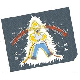 Disney - The Simpsons Fleecepläd Fleecefilt - Elektriker
