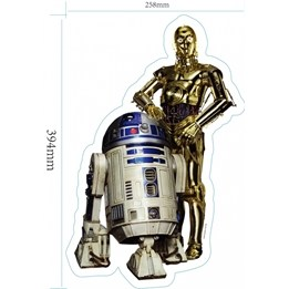 Disney - Star Wars Wallies 3D C3Po/R2D2