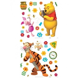 Disney - Nalle Puh 38-Pack Wallies Wallstickers