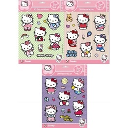 Disney - Hello Kitty Wall Stickers 3D 25-Pack