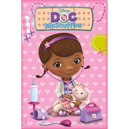 Disney - Doktor Mcstuffins Fleecepläd - Rosa