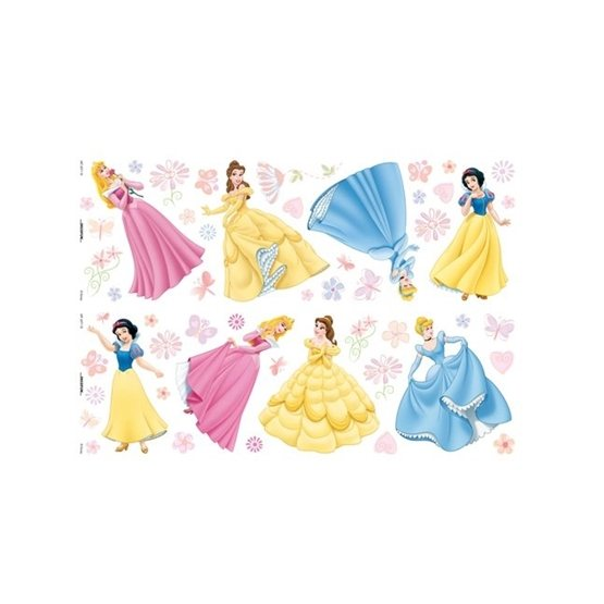 Disney - Disney Prinsessor Wallies Wall Stickers 52-Pack