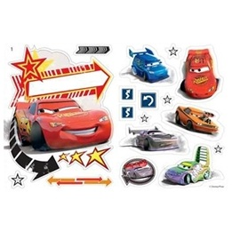 Disney - Cars/Bilar Wallies Wall Stickers 19-Pack