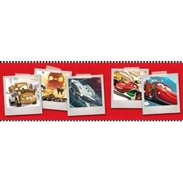 Disney - Cars/Bilar Bård 18 Cm Hög 10 Meter - Röd