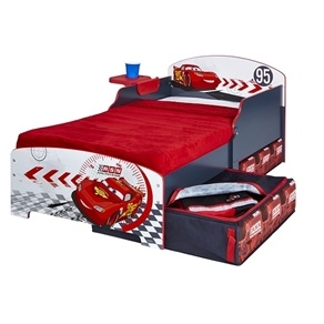 Sängar - Disney - Cars/Bilar Barnsäng Junior Med Lådor