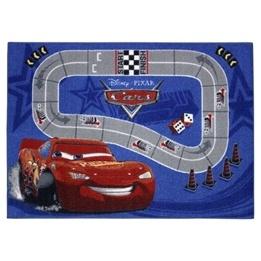 Disney - Cars/Bilar Barnmatta  Racingbana Blå