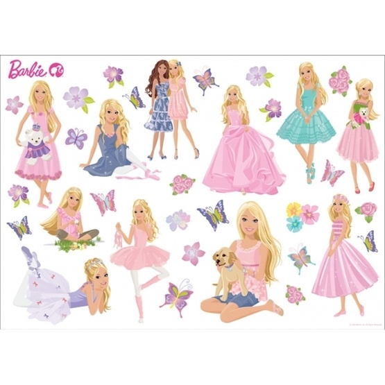 disney barbie wallies wallstickers litenleker se barbie stickers for walls www pixshark com images
