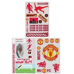 MRFK - Manchester United Väggdekaler 64-Pack