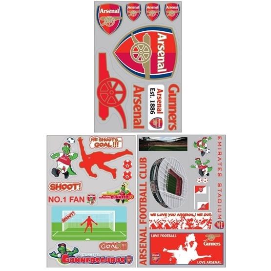 MRFK - Arsenal Wallies Väggdekaler 64-Pack
