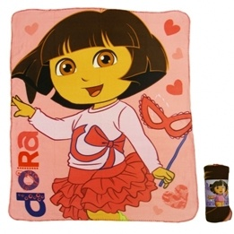 Disney - Dora Utforskaren Fleecefilt/Fleecepläd