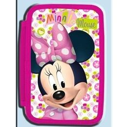 Disney - Mimmi Pigg  Fyllt Pennfodral Med Tre Fack Rosa