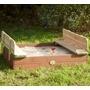 axi - sandlåda / sandbox ella med bänk