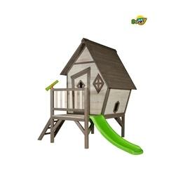 Sunny - Lekstuga Cabin XL Med Rutschbana - Grå/Vit