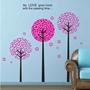 Hemdekor - Väggdekor Tre rosa träd