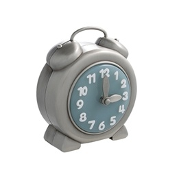 Dacapo Silver - Sparbössa Klocka M Blå Urtavla, Diam 9,5Cm