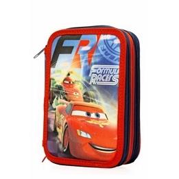Disney - Disney Cars / Bilar Fyllt Pennfodral Med Tre Fack
